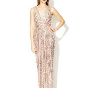 Rose Gold Bridesmaid Dress / Gown